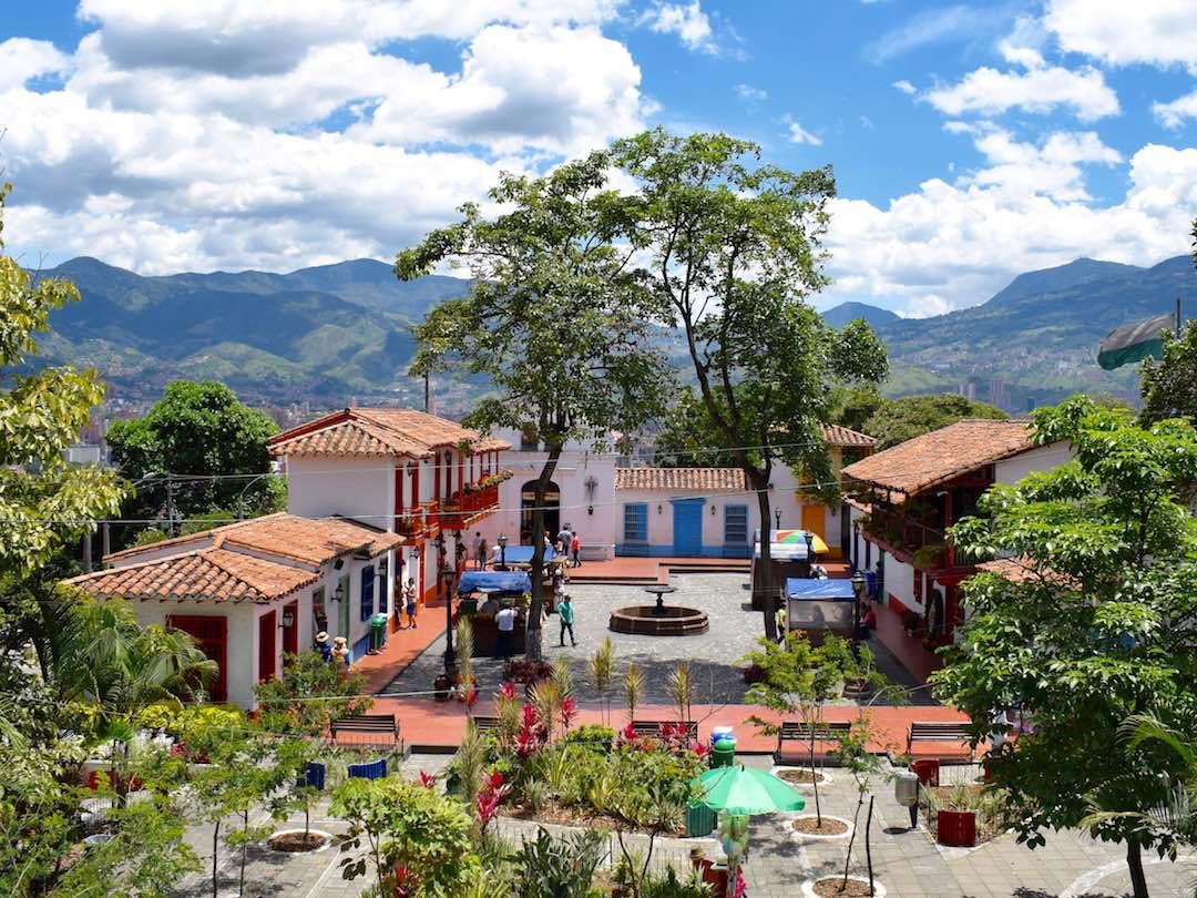 Traditional Antioquian town near Medellin