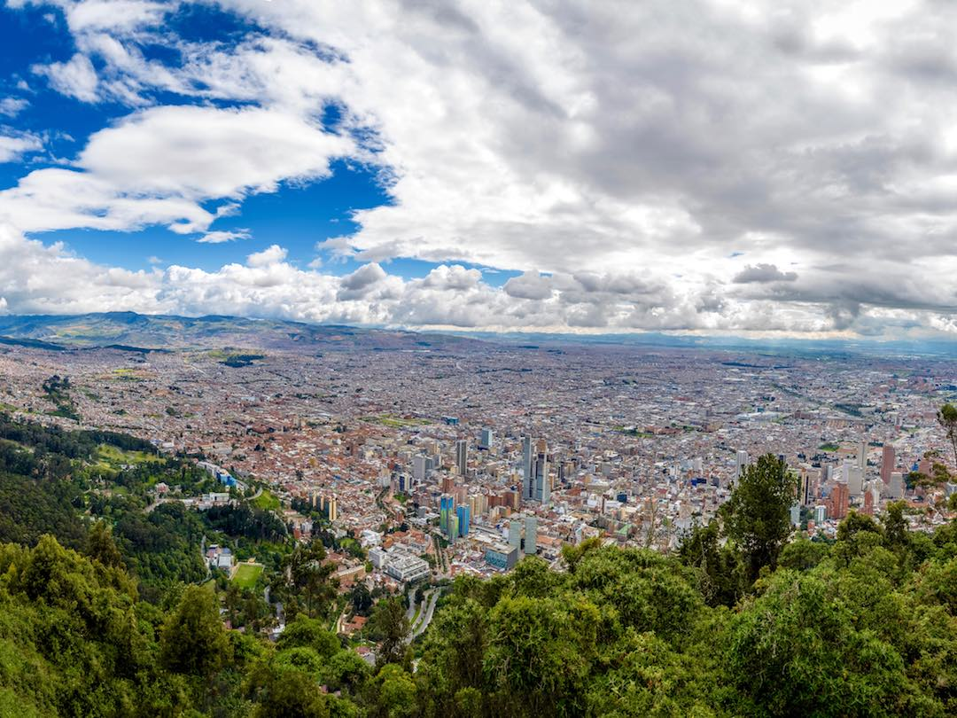 View over Bogota, 3rd stop on our 2 week colombia itinerary