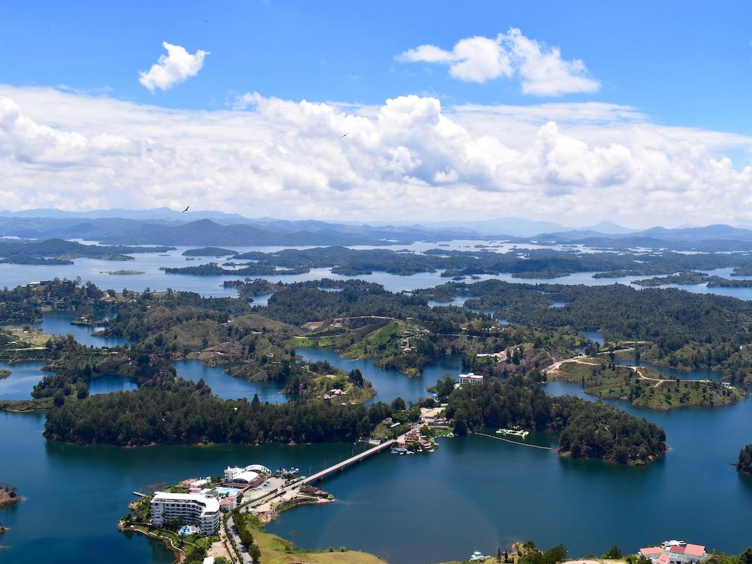 Guatape reservoir in Colombia