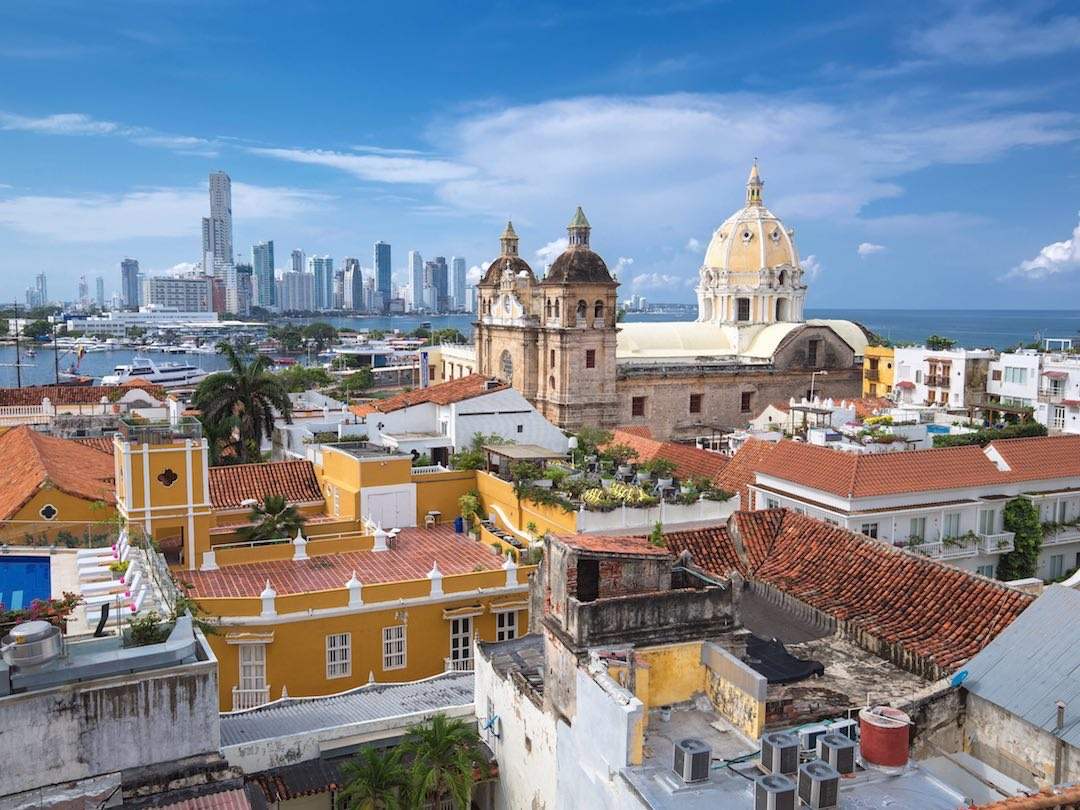 Panoramic view of Cartagena from the other Colombia 1 week itinerary