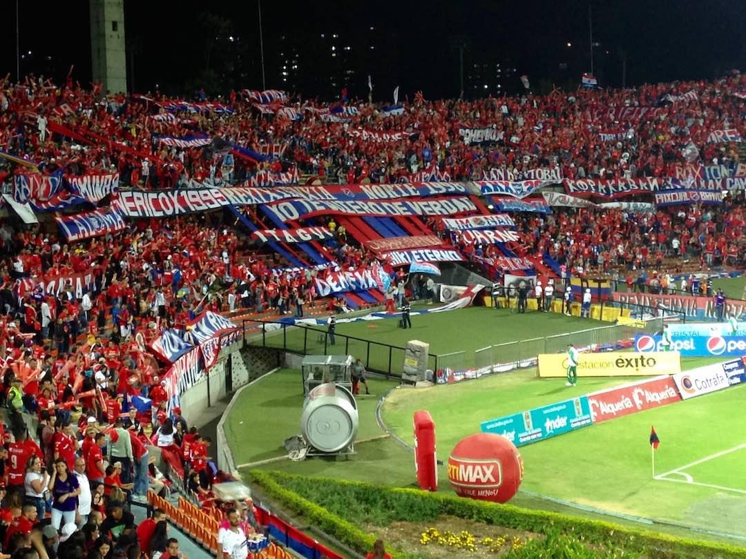 Football match in Medellin