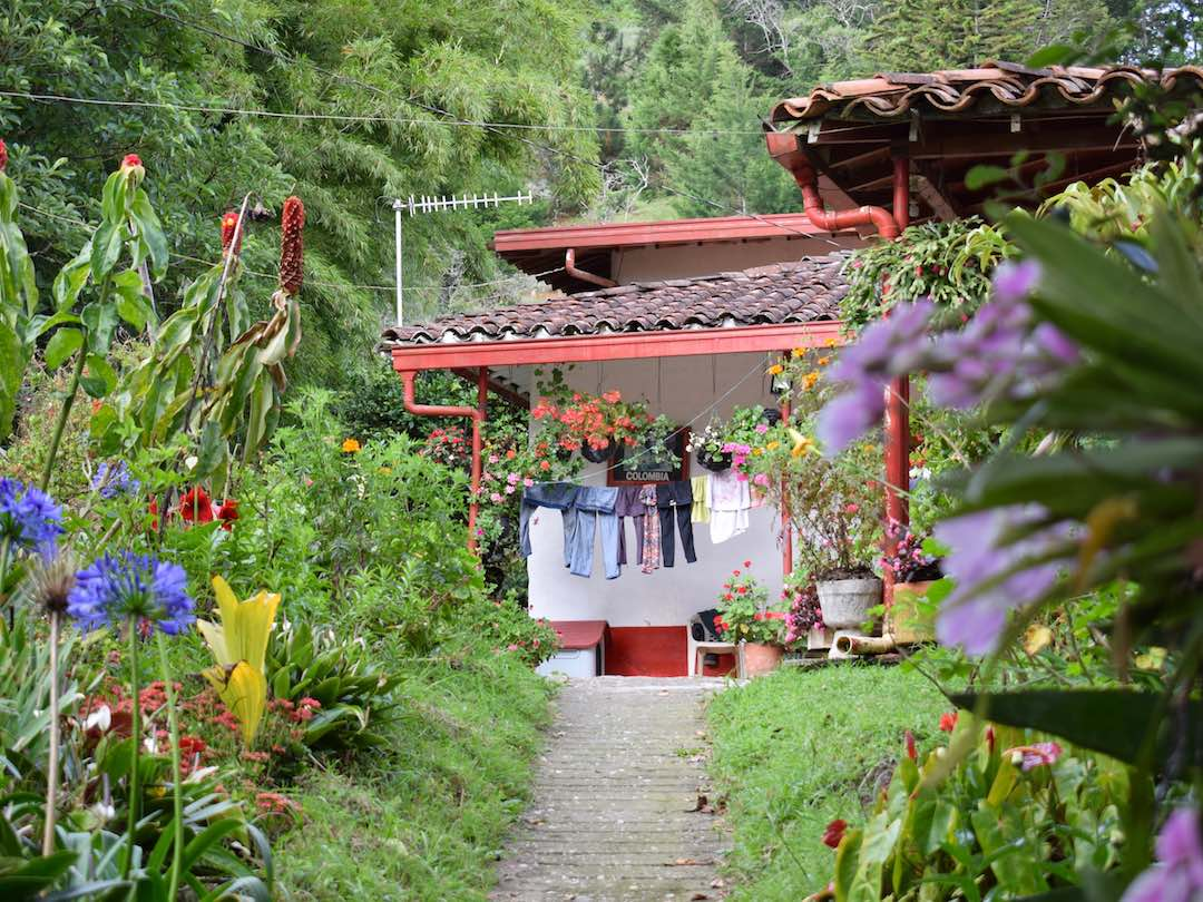 Traditional finca in antioquia colombia