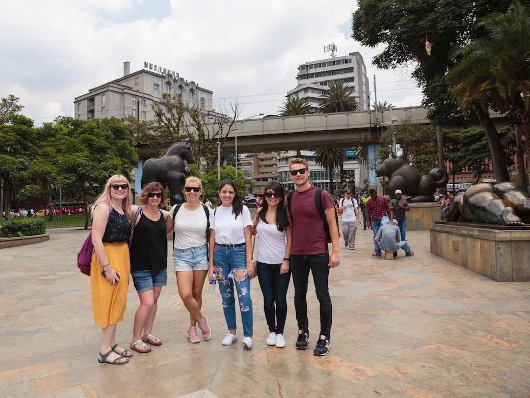 Group tour plaza botero medellin