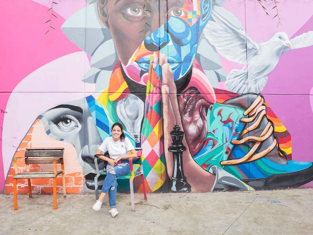 Graffiti in comuna 13, medellin