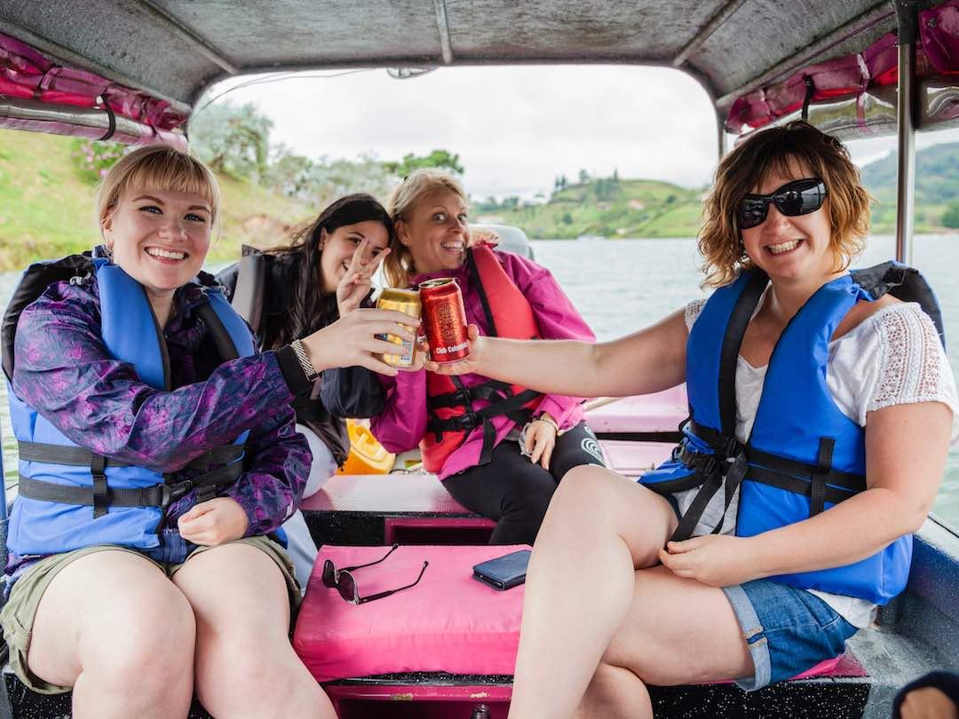 Boat ride in Guatape, colombia