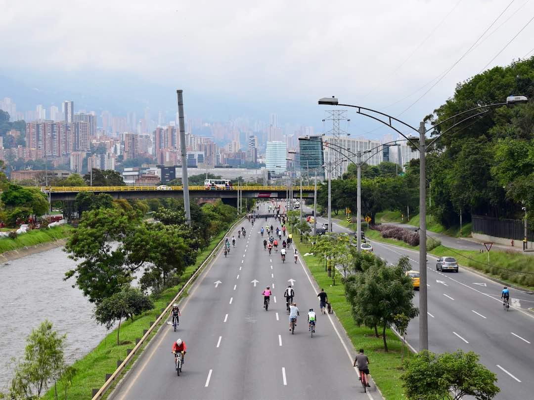 Ciclovia in Medellin colombia
