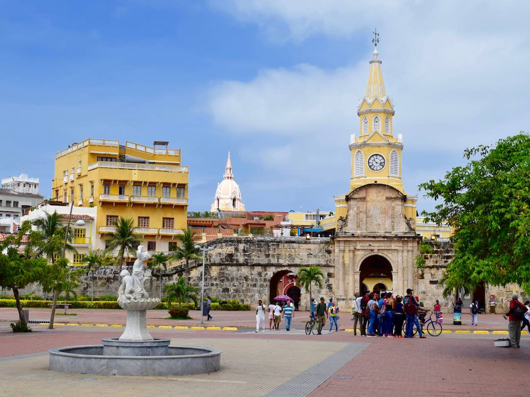 Clock tower of cartagena, colombia