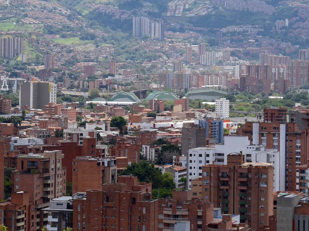 View of the sports stadium in medellin