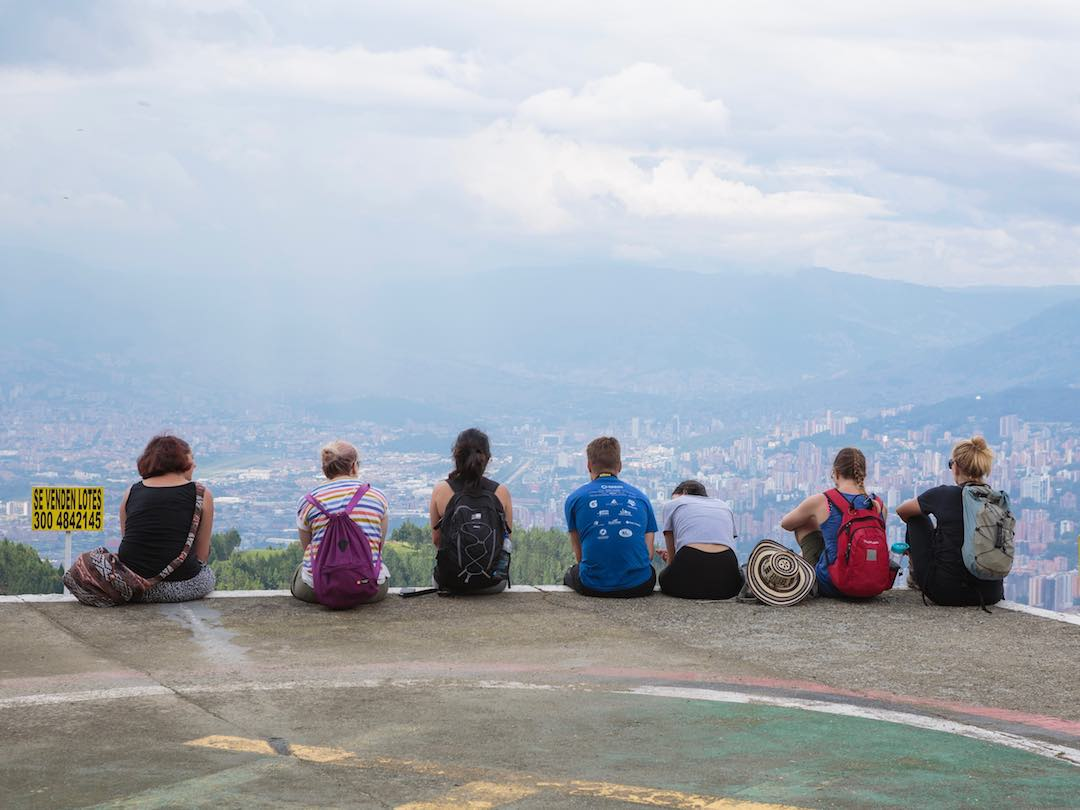 2 weeks hiking in Colombia: overlooking Medellin