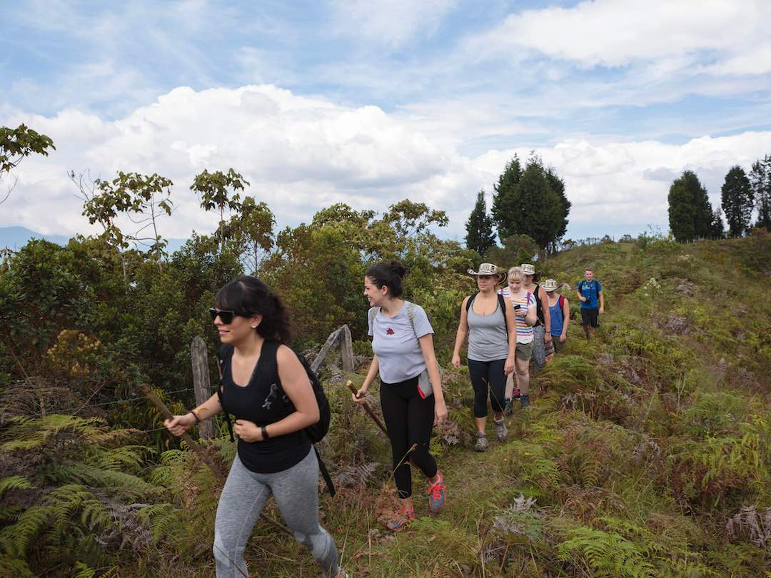 Small group tour hiking in Colombian andes