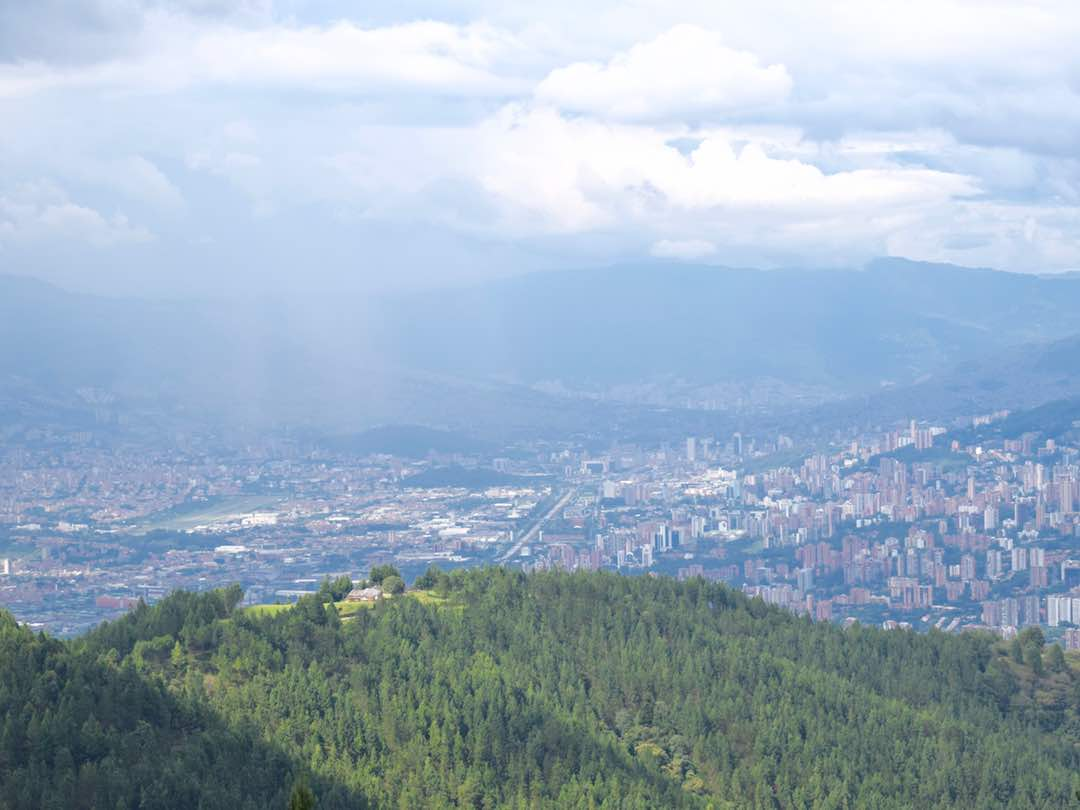 View overlooking medellin colombia