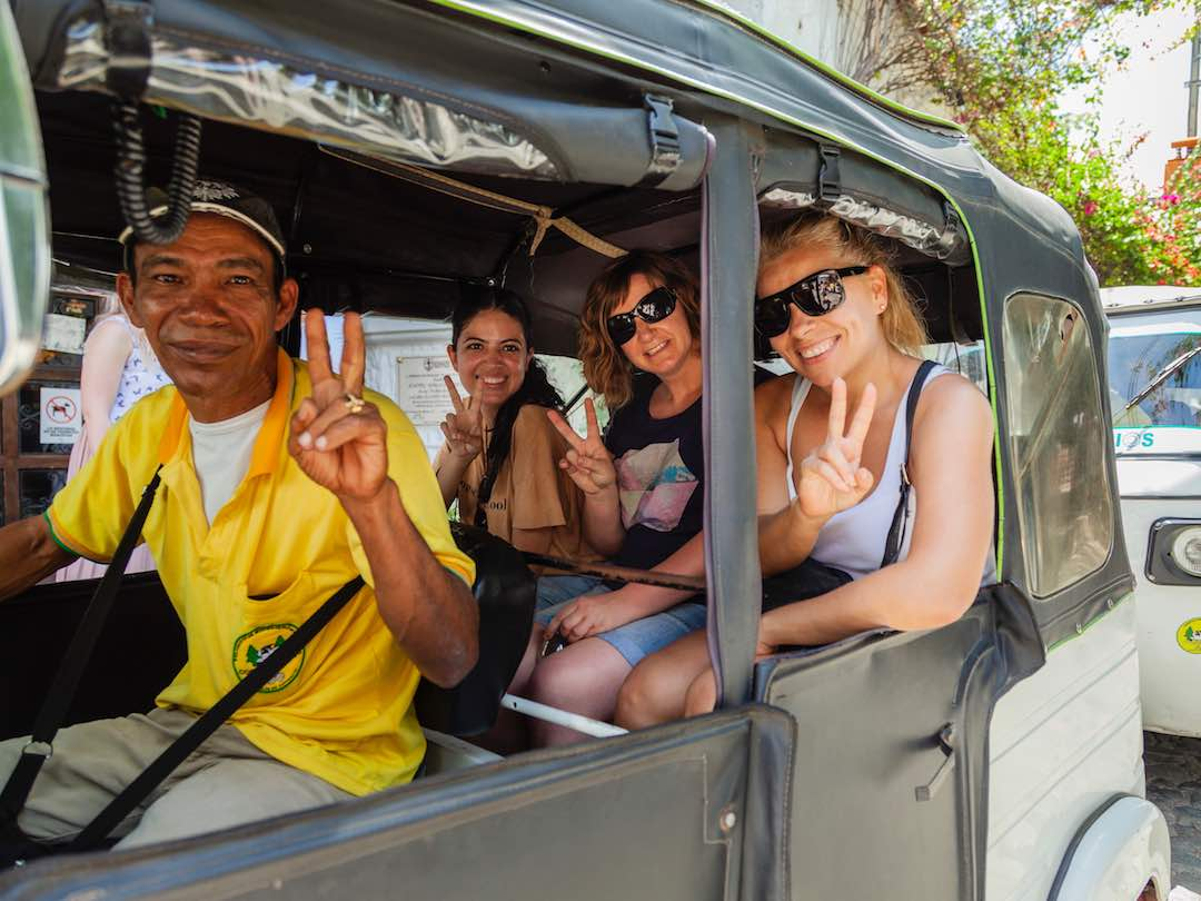 Travellers during a group tour of Colombia