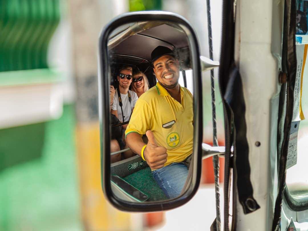 Mototaxi selfie, Colombia