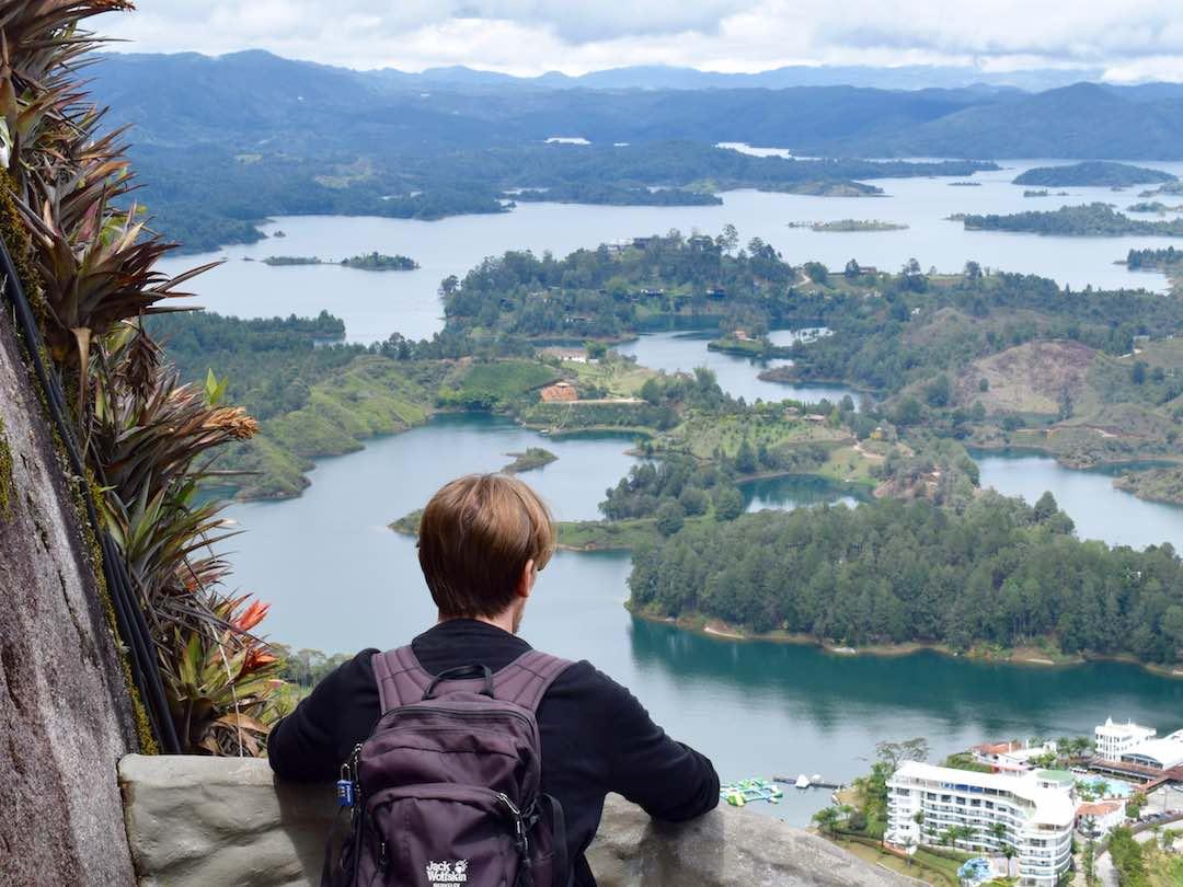Overlooking guatape reservoir colombia
