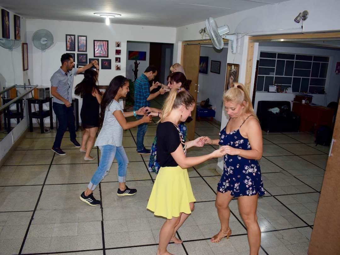 Salsa class in Medellin, Colombia