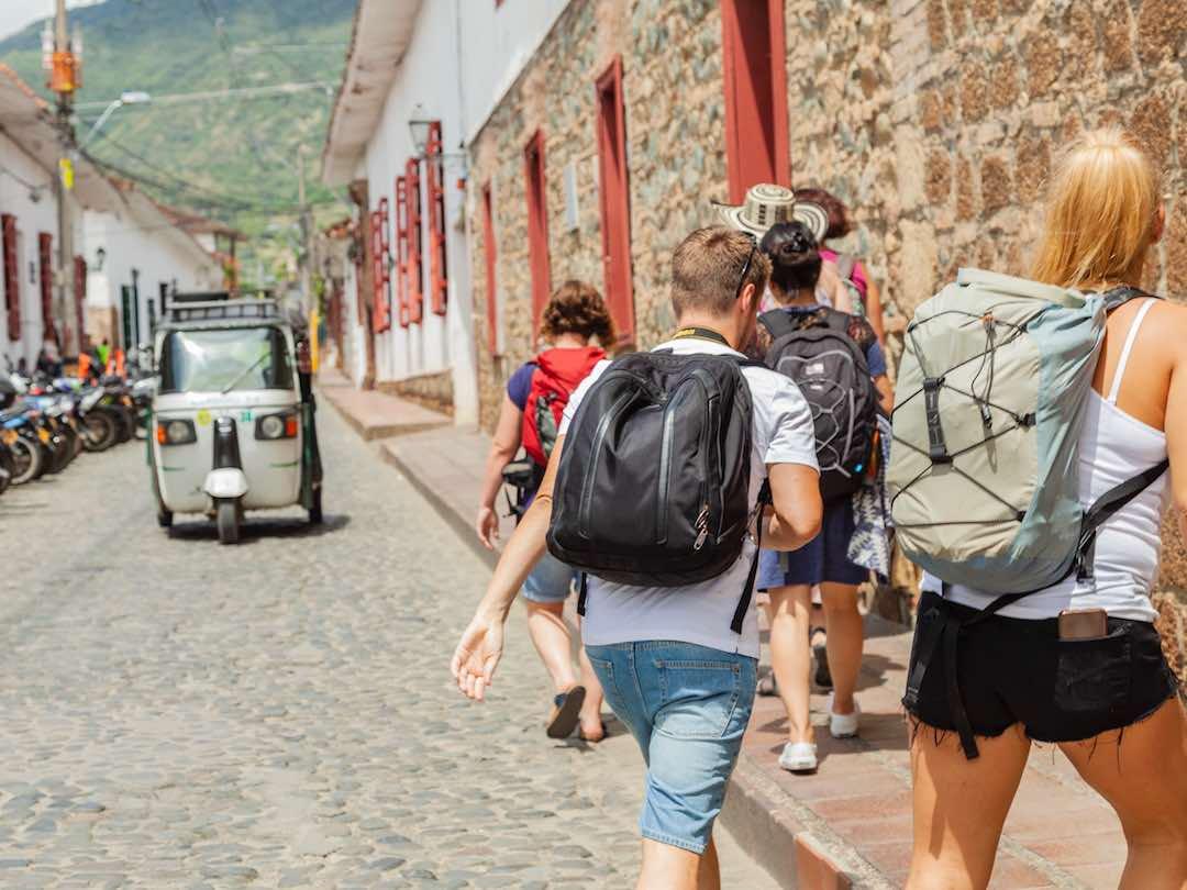 Cobbled streets of santa fe de antioquia