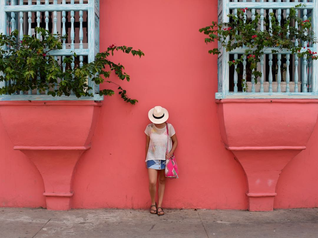 Colourful houses of cartagena, colombia