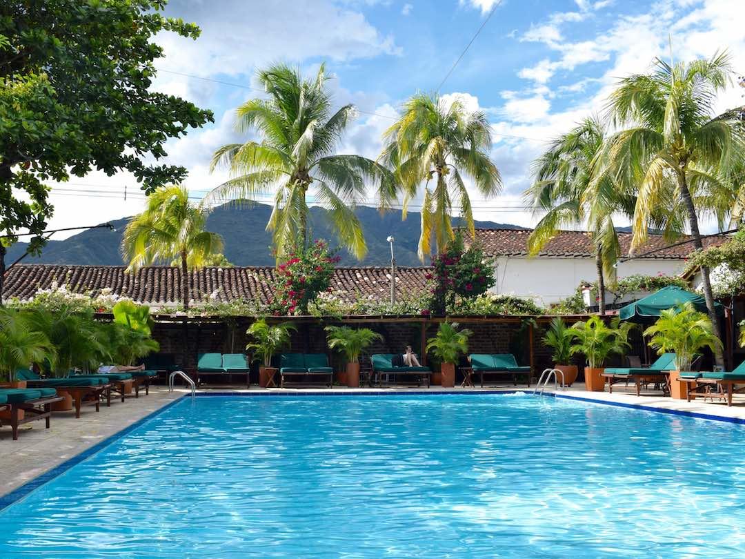 Pool time on 2 week trip of Colombia