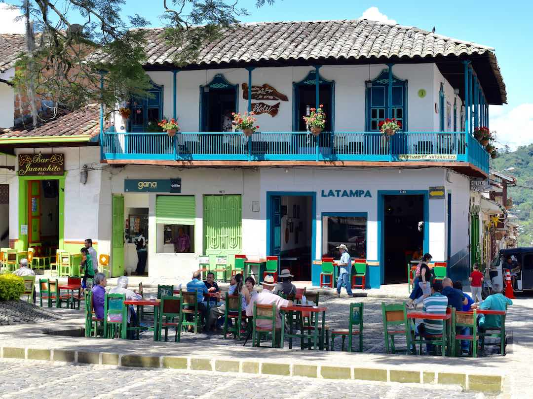 Colombia coffee town in the coffee region