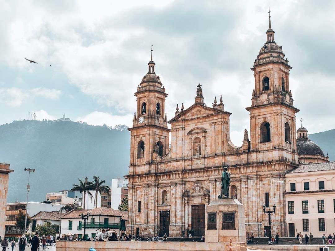 Church in Plaza Bolivar Bogota