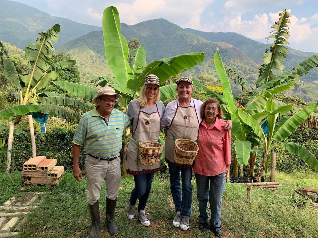 Coffee farmers at their finca