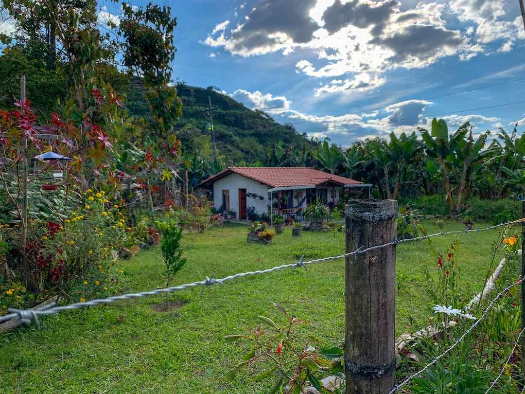 Coffee finca deep in Colombia's coffee region