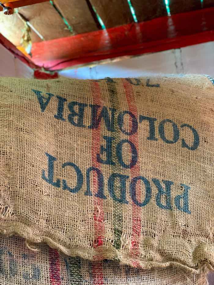 Colombia coffee beans at coffee finca
