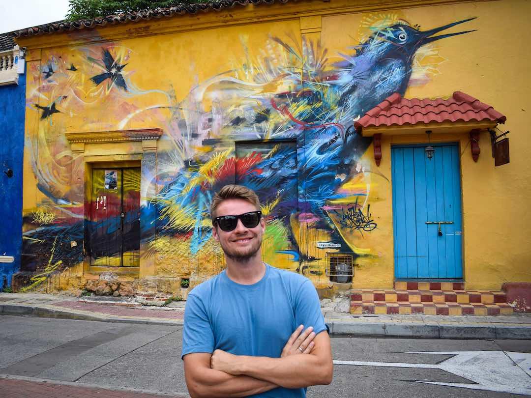 Things to do in Cartagena: street art in getsemani