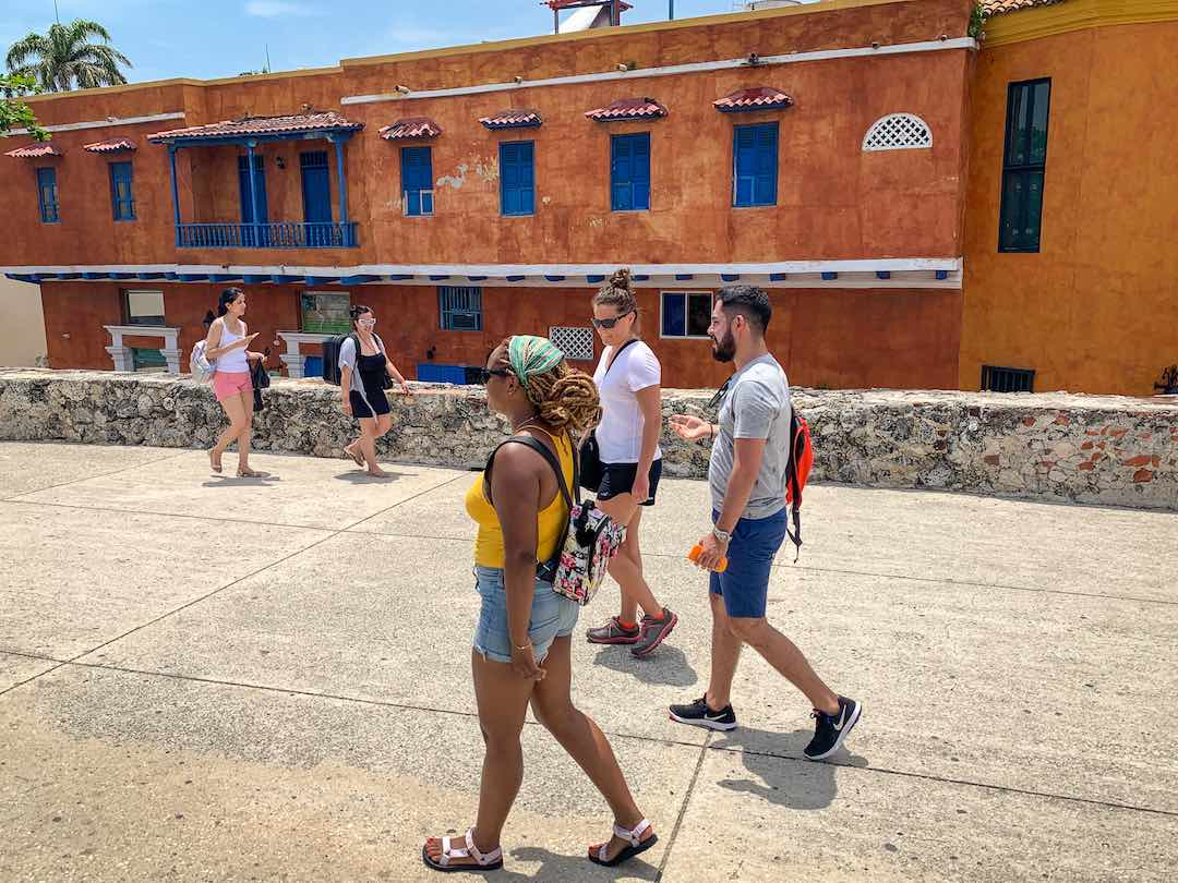Walking the city walls, a top thing to do in cartagena colombia