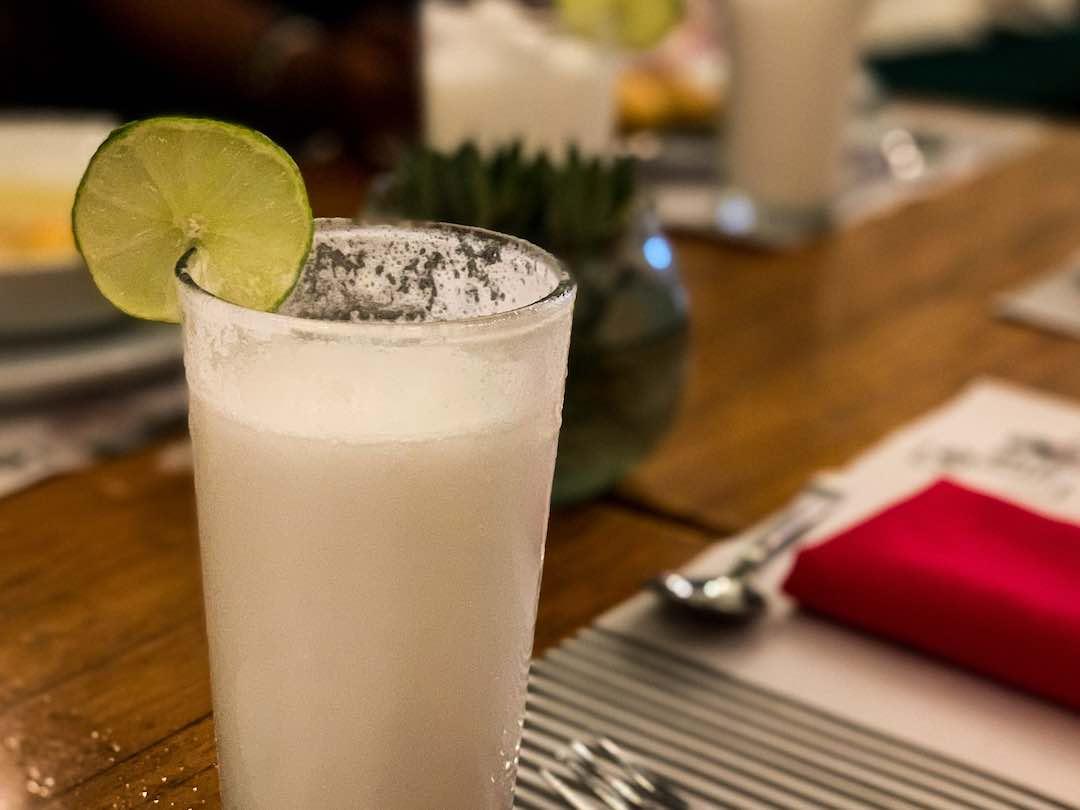 Limonada de coco, the best drink in cartagena colombia