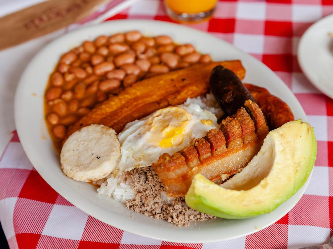 Bandeja Paisa Medellin Colombia Other Way Round