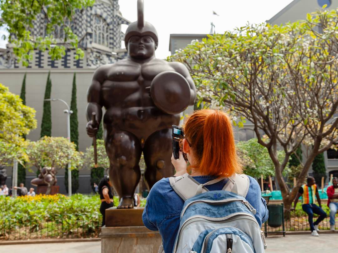 Botero statue in Medellin Colombia