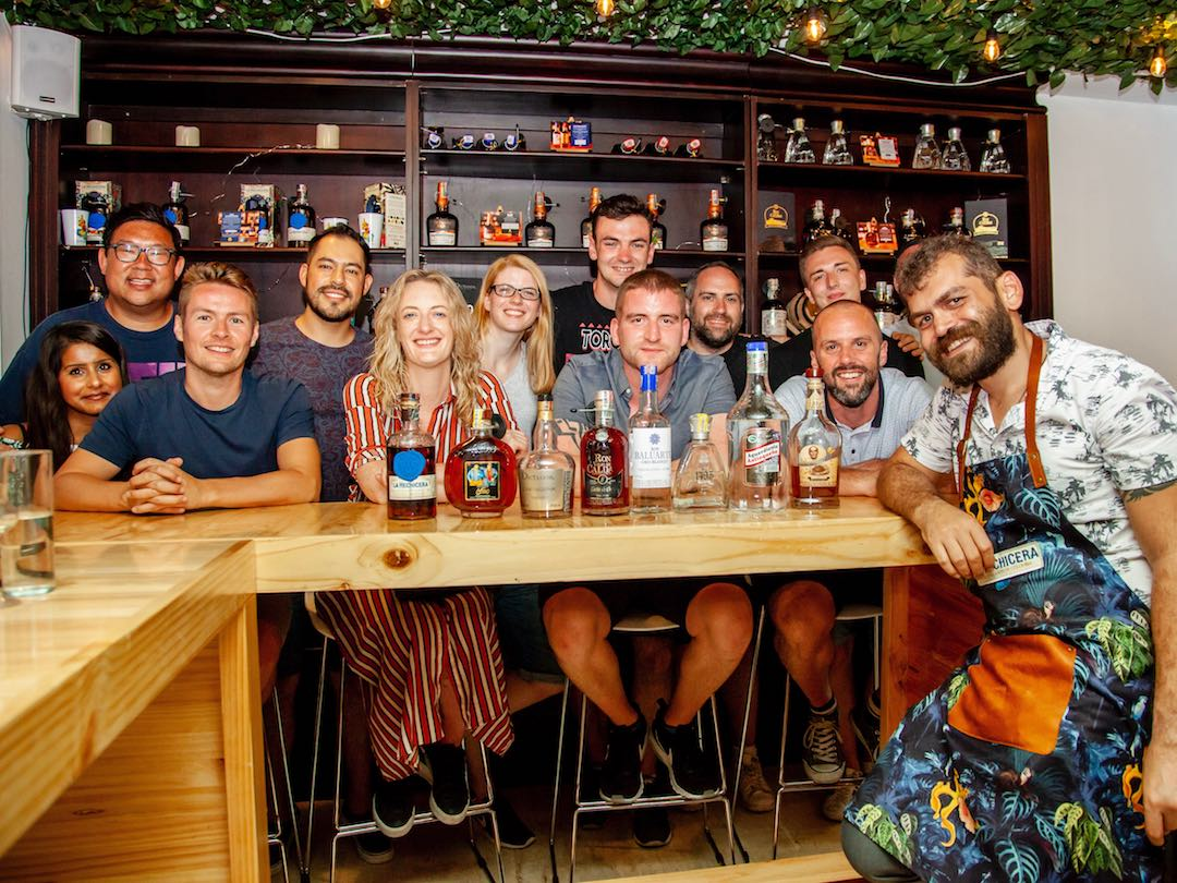 Rum tasting with Other Way Round travel in Cartagena Colombia