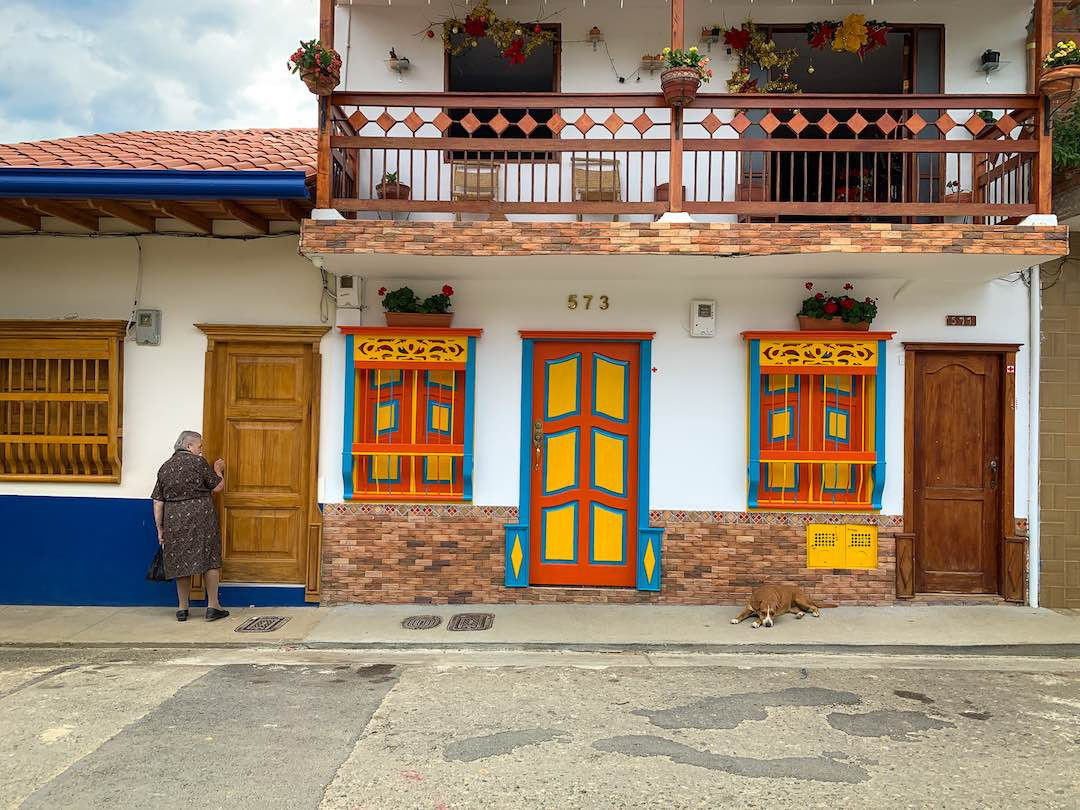 Colorful streets of Jardin Colombia