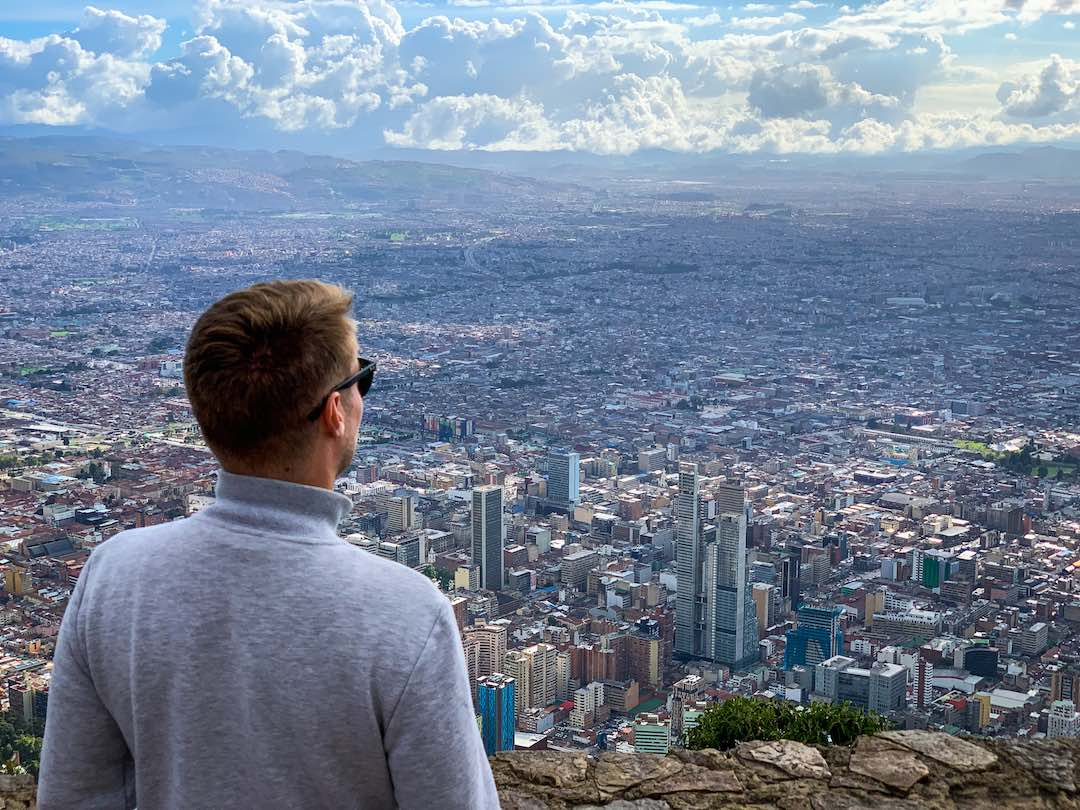 Overlooking Bogota from Monserrate during Otherwayround tour of Colombia