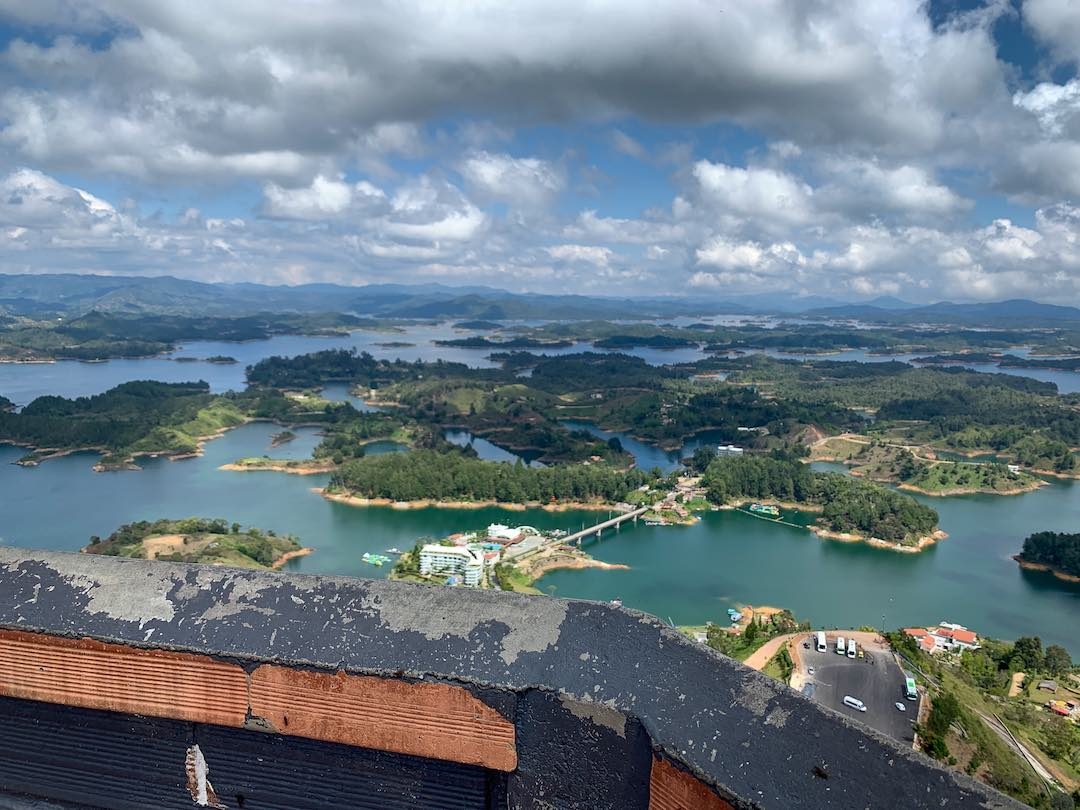 Overlooking Guatape during Other Way Round trip to Colombia