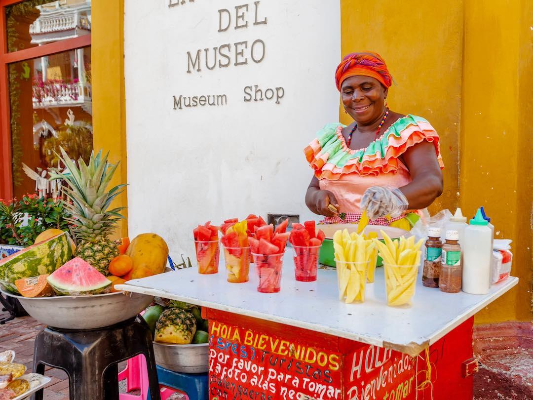 Fruit Vendors in Cartagena Colombia