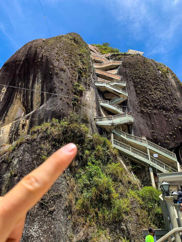 Climbing la piedra del penol with Other Way Round Travel