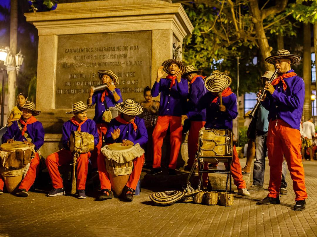Colombian music in Cartagena with Other Way Round Travel