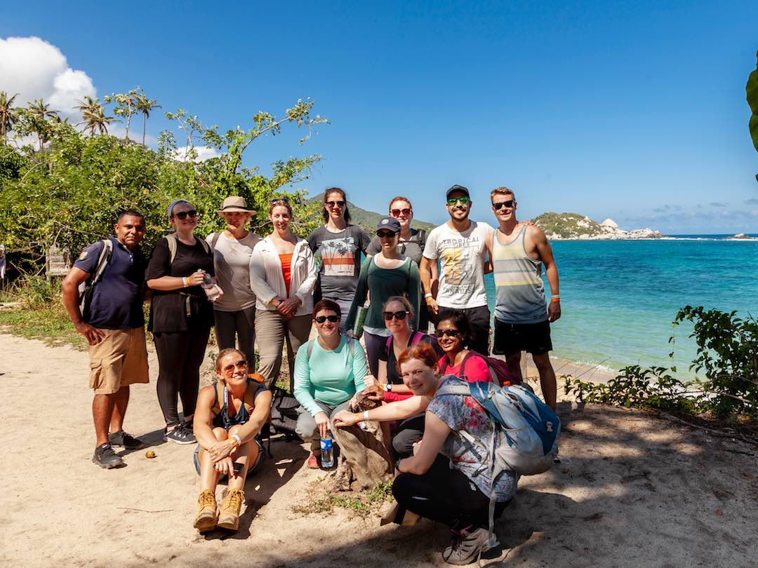 Other Way Round tour group travelling colombia safely