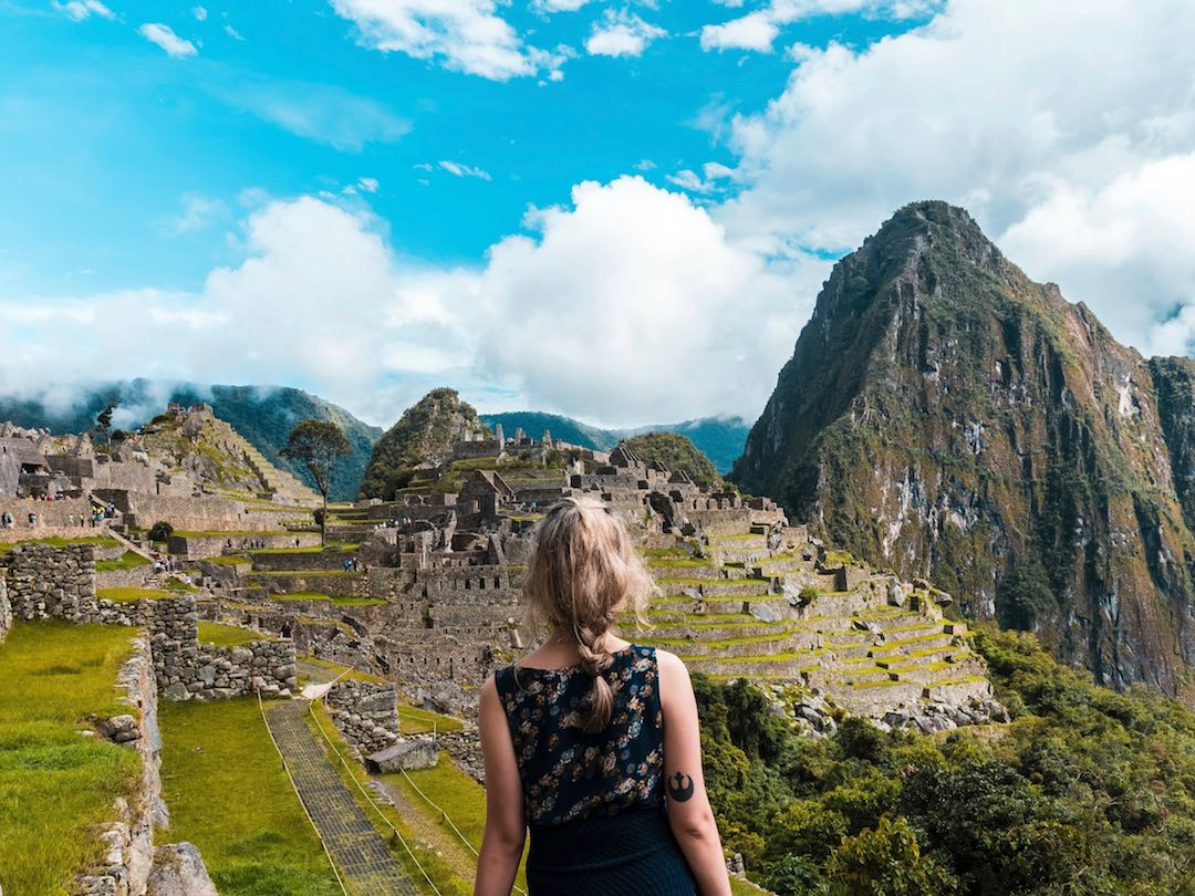 Overlooking Machu Picchu during Other Way Round Peru group tour