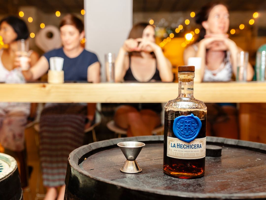 Rum tasting during Colombia group tour