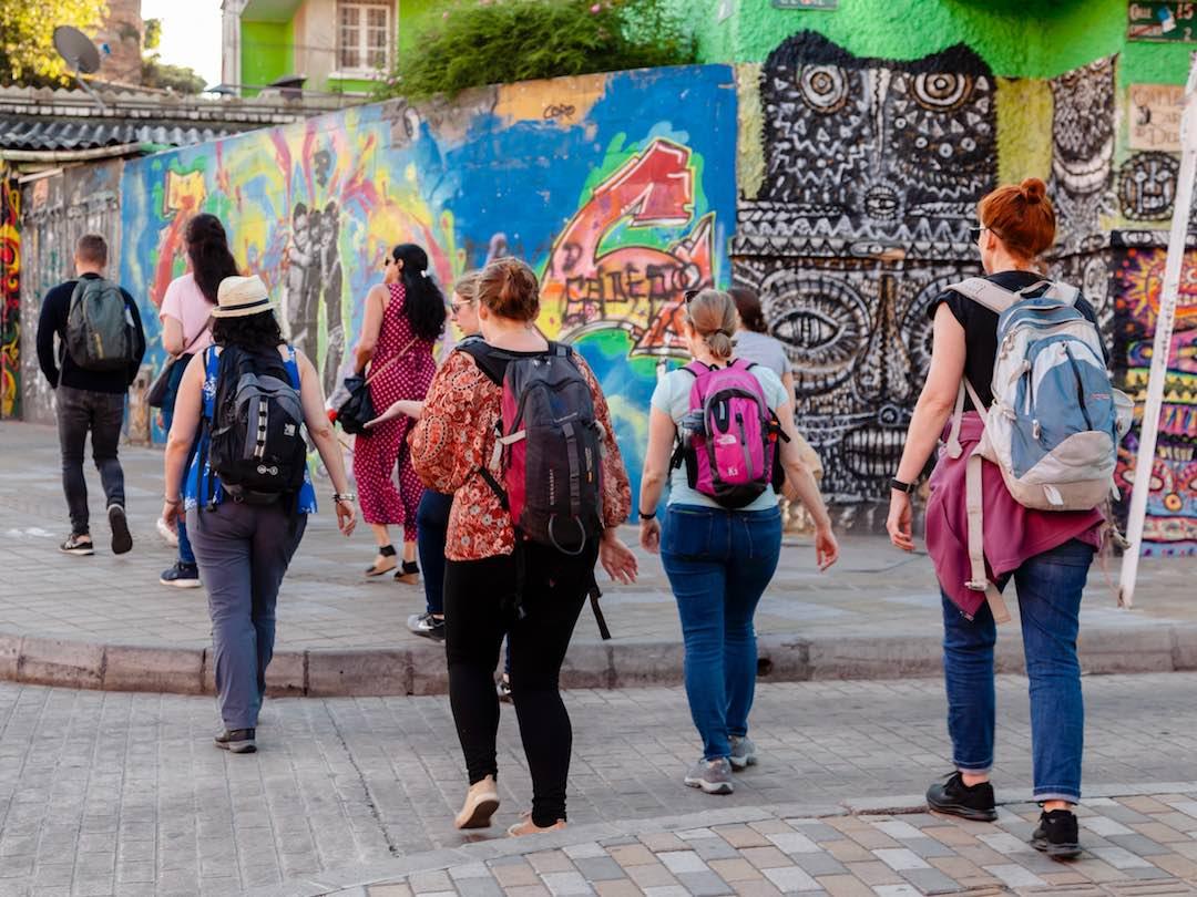 Female travel group in Bogota, Colombia