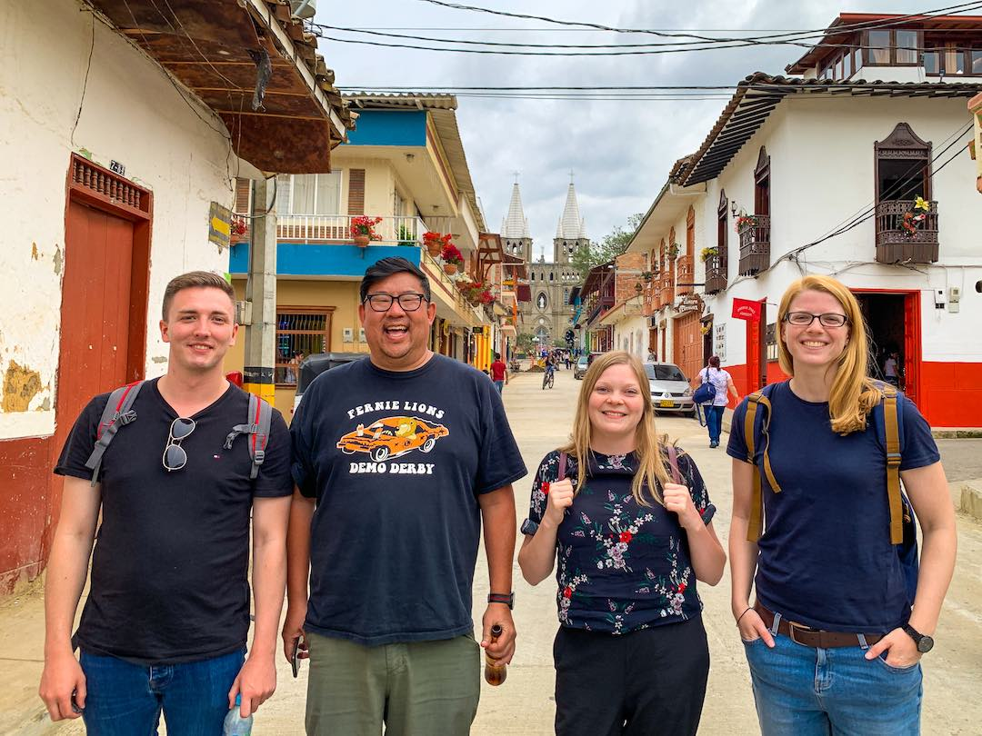 Other Way Round guests during group tour of Colombia