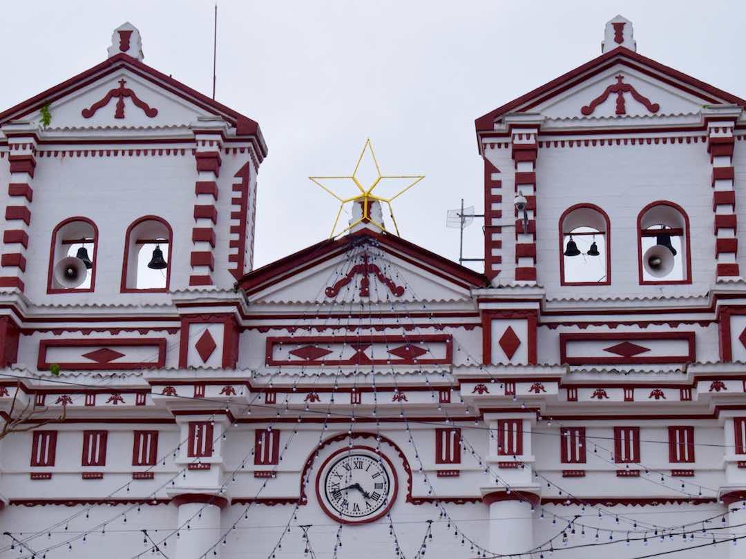 Close up of Guatape church