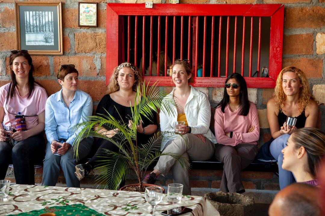 Group of female solo travellers on Other Way Round Colombia tour