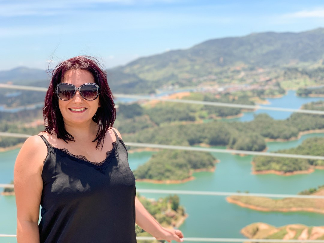 Solo female traveller on Other Way Round group tour