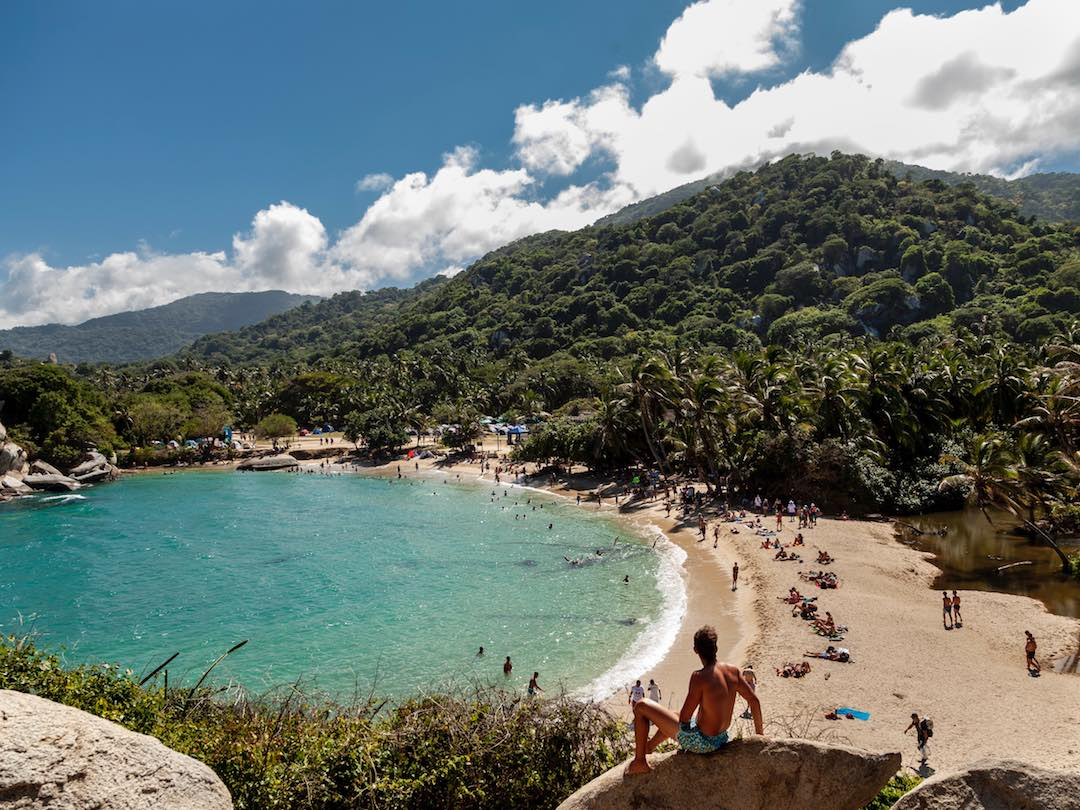 View of Parque Tayrona Colombia during our small group tour