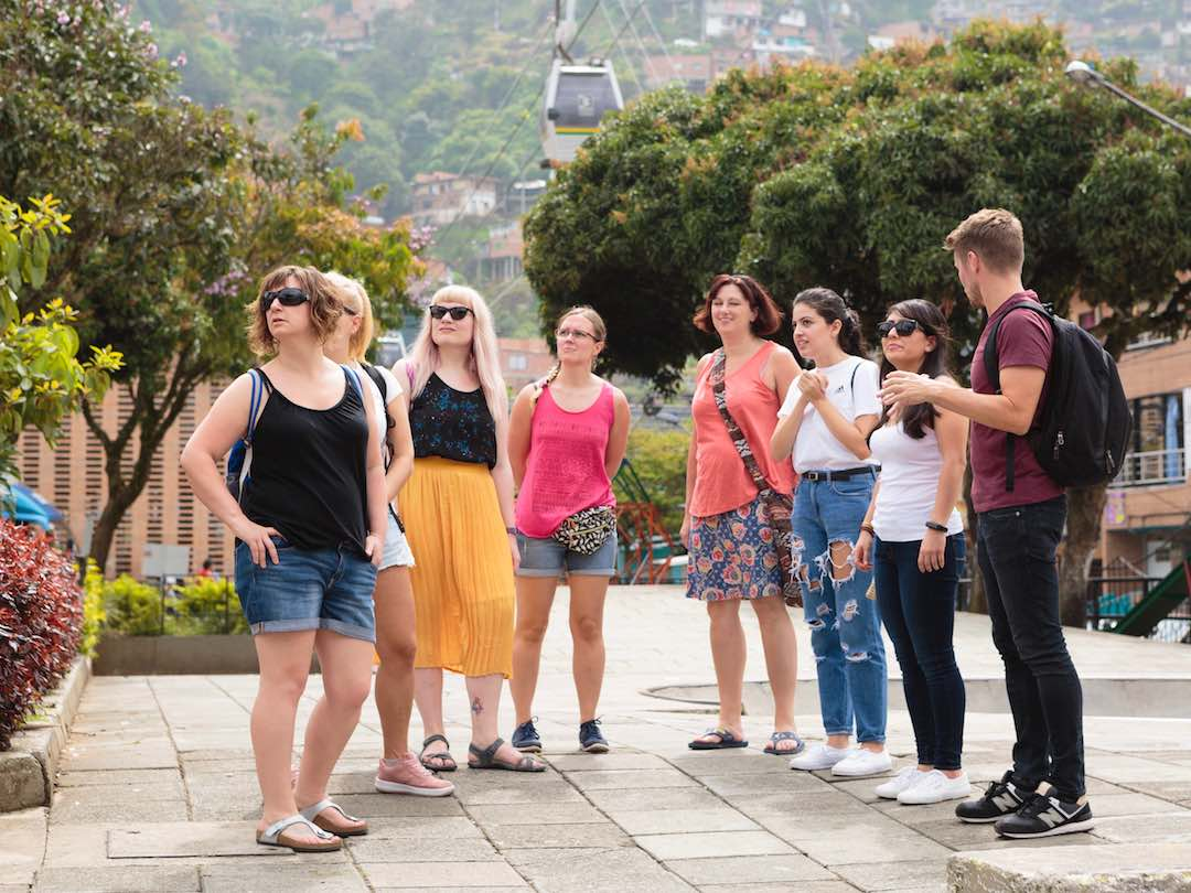 solo female travel group in their 30s and 40s