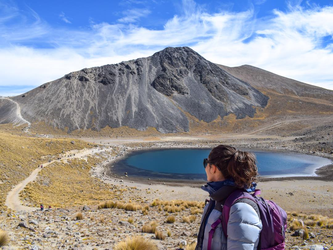 Hiking volcanoes during our Mexico small group tour